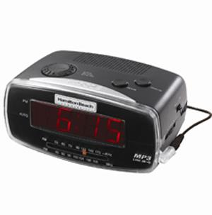 hamilton beach alarm clock radio with mp3 player appliances electronics clocks clock. Black Bedroom Furniture Sets. Home Design Ideas