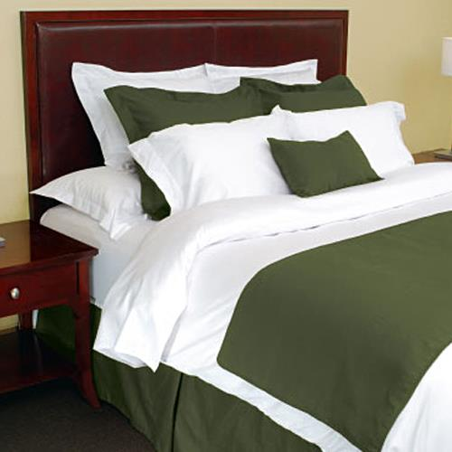 Avm Enterprises Inc King Bed Scarf With Piping Cypress