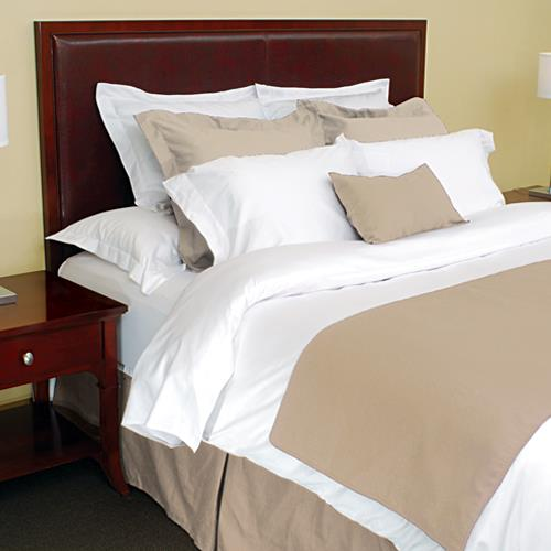 Avm Enterprises Inc King Bed Scarf With Piping Wheat