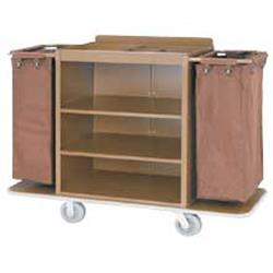 Full Size Metal Housekeeping Cart