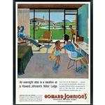 Howard Johnson Vintage Artwork @ Lobby Kids Play