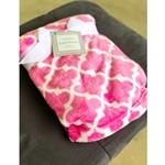 Pink Gatework Design Cuddly Blanket