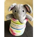 Sherpa Blanket with Elephant Plush