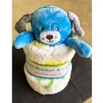 Sherpa Blanket with Puppy Plush