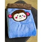 Monkey Microfiber Blanket with Border