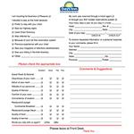 Days Inn Comment Cards