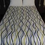 "86x96 Full ""Helix Wavy Stripe"" Decorative Top Sheet"