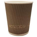 "Unwrapped ""Hot & Cold"" 9 oz. Paper Ripple Cups"